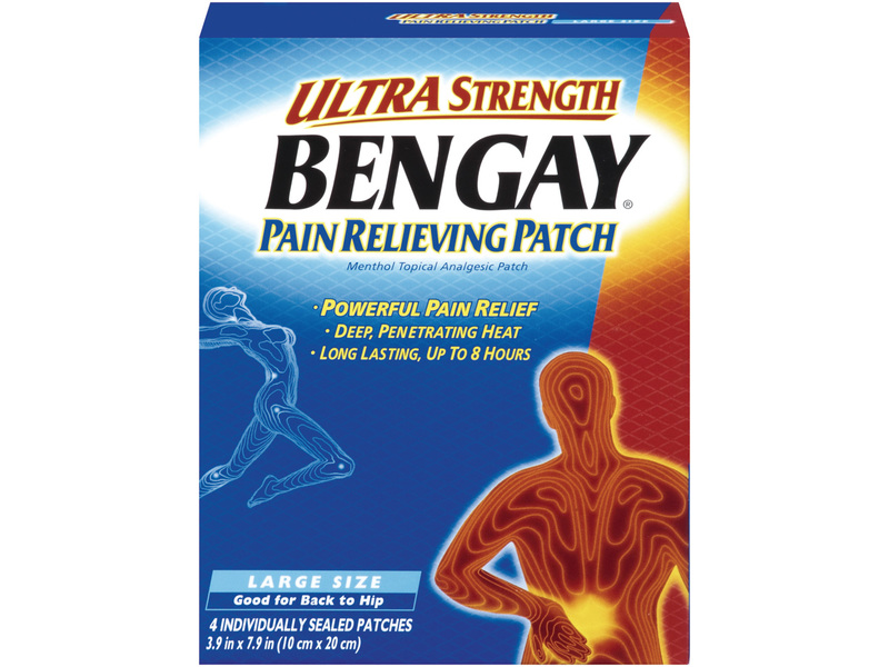 Ultra Strength Bengay Pain Relieving Patch, johnson & johnson