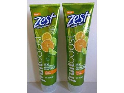 Zest Fruit Boost Citrus Splash Revitalizing Shower Gel 2X Concentrated 10 fl oz (2 pack)