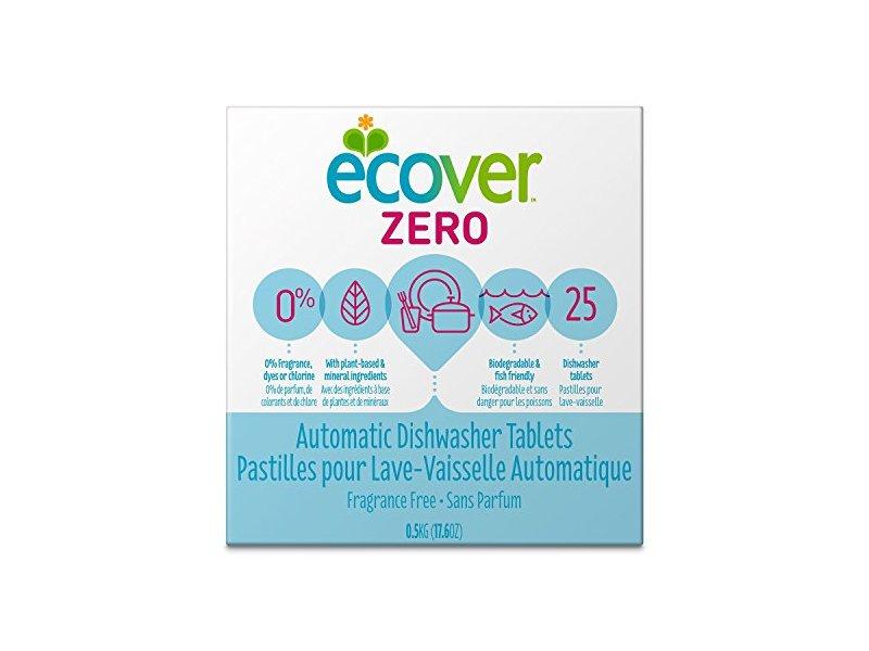 Ecover Automatic Dishwashing Tablets, Zero, Fragrance Free, 25 Count, 17.6 oz / 0.5 Kg