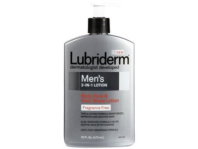 Lubriderm Men's 3-in-1 Fragrance Free Lotion, 16 oz - Image 1