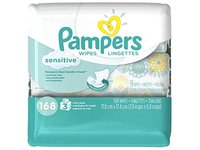 Pampers Sensitive Wipes 3x Travel Pack, 168 Count - Image 2