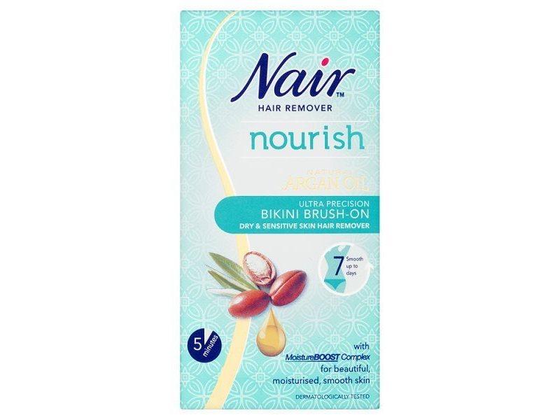 Nair Ultra Precision Bikini Brush on Hair Removal Cream, 60 ml
