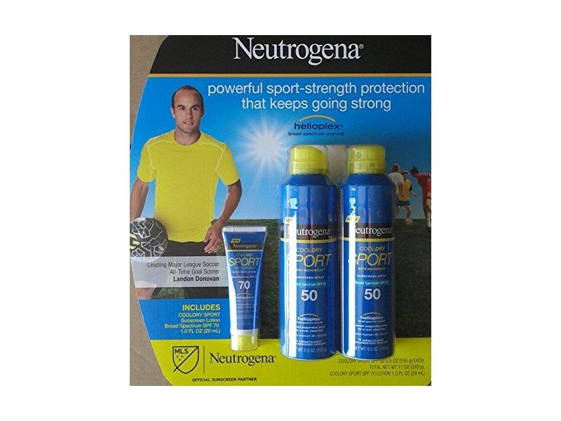 Neutrogena Cooldry Sport with Micromesh Sunscreen SPF 50 Spray & SPF 70 Lotion