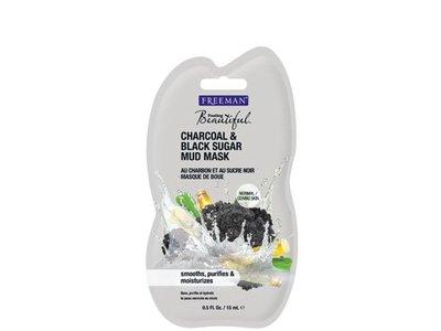 Freeman Feeling Beautiful Charcoal Black Sugar Mud Mask, Travel Size, 0.5 fl Oz