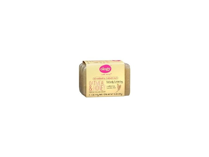 Ology Triple Milled Soap Bars, Oatmeal & Honey, 4 oz