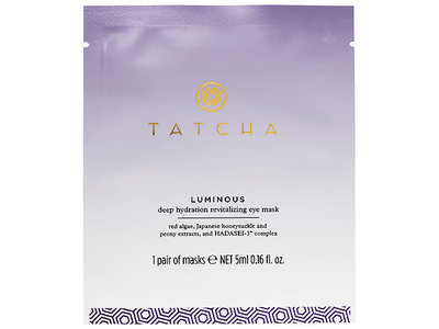 Tatcha Luminous Deep Hydration Revitalizing Eye Mask, 1 Mask