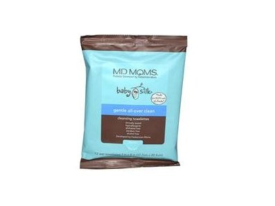 MD Moms Baby Silk Gentle All Over Baby Wipes, 80 Towelettes