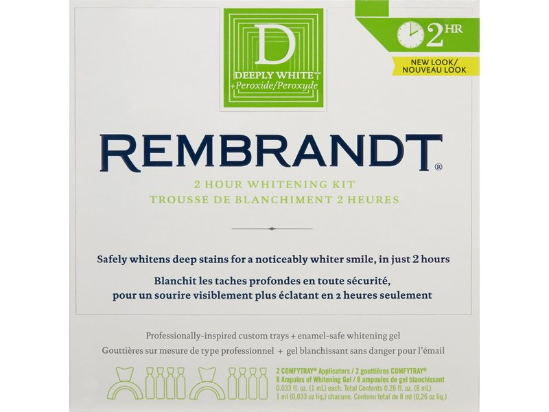 Rembrandt 2-Hour Whitening Kit, Johnson & Johnson