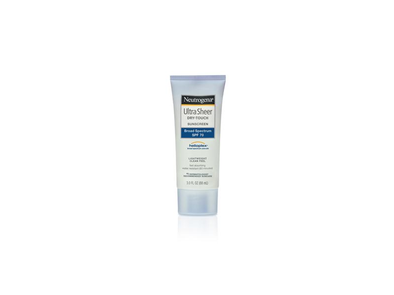 Neutrogena Ultra Sheer Dry-touch Sunscreen Broad Spectrum SPF 70, Johnson & Johnson