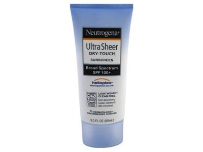 Neutrogena Ultra Sheer Dry-Touch Sunscreen, Broad Spectrum SPF 100, 3 oz (3 Pack)