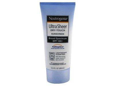 Neutrogena Ultra Sheer Dry-Touch Sunscreen, Broad Spectrum SPF 100, 3 oz (3 Pack) - Image 1
