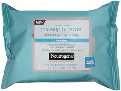 Neutrogena Hydrating Makeup Remover Cleansing Towlettes, 25 Count (Pack of 3)