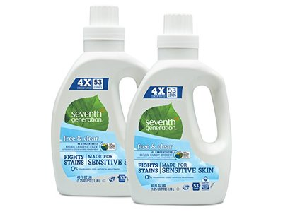 Seventh Generation Natural Laundry Detergent Free and Clear Unscented, 5 loads, 8 fl oz