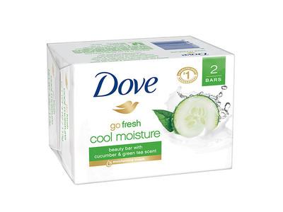 Dove Go Fresh Cool Moisture Beauty Bar, Cucumber & Green Tea, 4 oz - Image 1