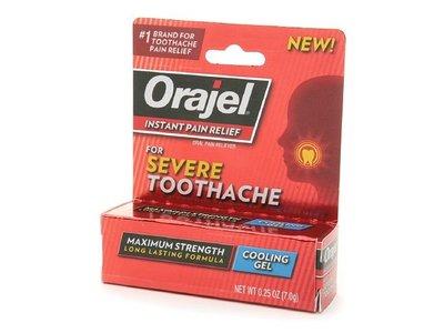 Orajel, Instant Pain Relief Gel, Severe Toothache