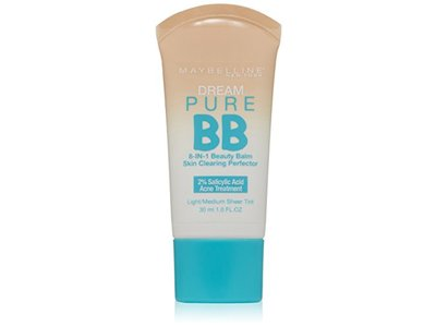 Maybelline New York Dream Pure BB Cream Skin Clearing Perfector, Light/Medium, 1 Fluid Ounce