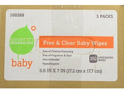 Seventh Generation Original Soft and Gentle Free and Clear Baby Wipes, 350 Count - Image 4