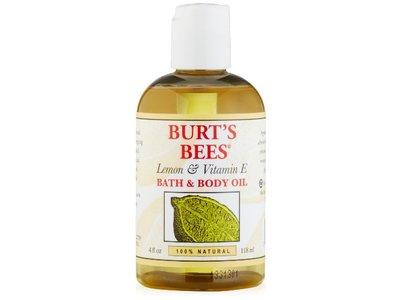 Burt's Bees Lemon & Vitamin E Bath & Body Oil, 4 Fluid Ounce - Image 1