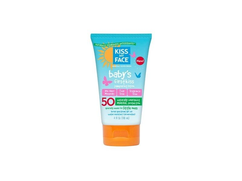 Kiss My Face Spf#50 Sunscreen Baby First Kiss Lotion 4oz (2 Pack)
