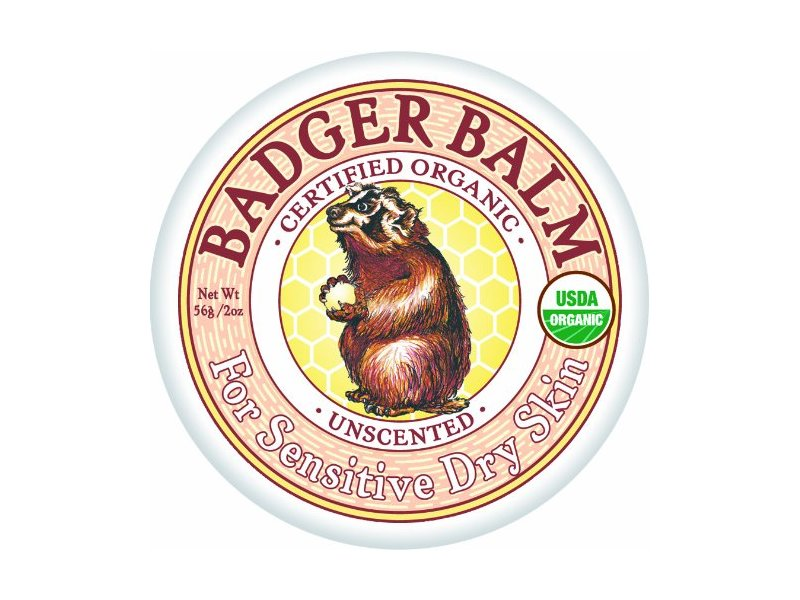 Badger Balm Unscented for Sensitive Dry Skin Balm, 2 oz