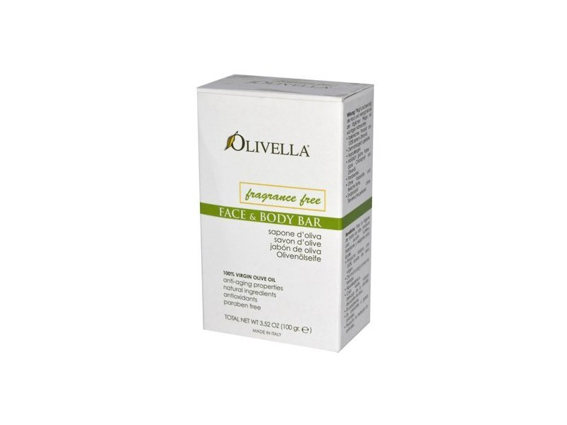 Olivella Face and Body Soap, Fragrance Free, 3.52 Oz