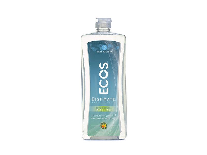 Earth Friendly ECOS Dishmate Dish Liquid, Free & Clear, 25 fl oz