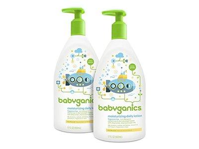 Babyganics Moisturizing Daily Lotion, Fragrance Free, 17 oz Pump Bottle
