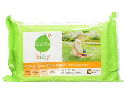 Seventh Generation Original Soft and Gentle Free and Clear Baby Wipes, 350 Count - Image 1