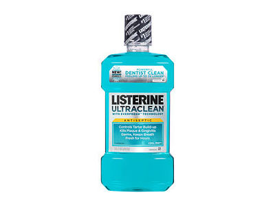 Listerine Ultraclean Antiseptic Mouthwash With Tartar Protection & Evenfresh - Cool Mint, Johnson & Johnson - Image 1