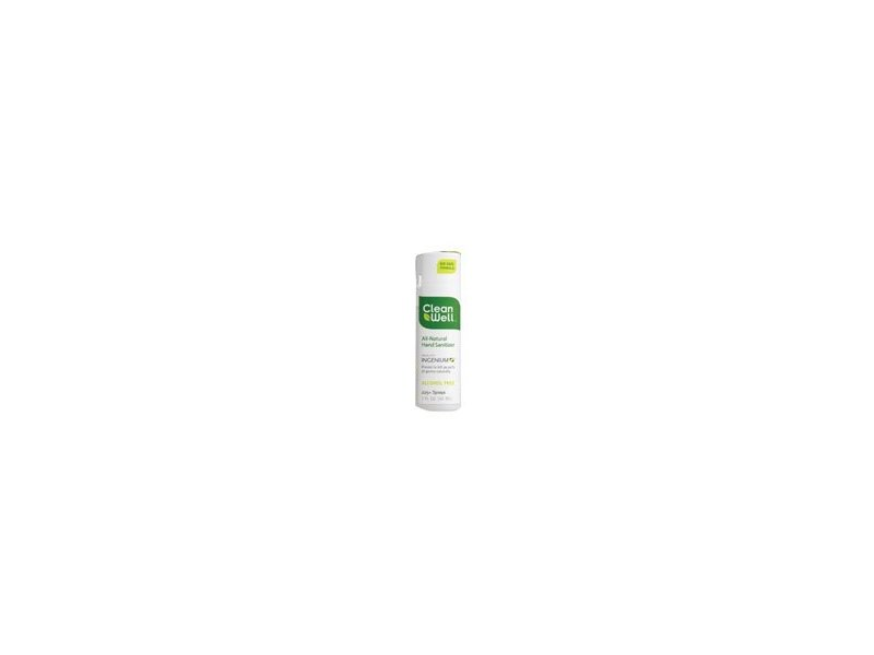 CleanWell Natural Hand Sanitizer Spray, Alcohol-Free, 1 fl oz