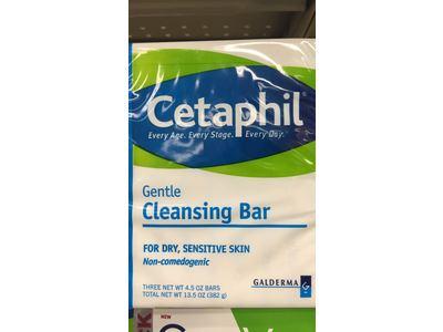 Cetaphil Gentle Cleansing Bar for dry, sensitive Skin, 4.5 oz (3 Count) - Image 6