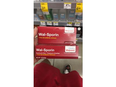 Wal-Sporin First Aid Antibiotic Ointment - 1 oz (28 g)-Walgreens
