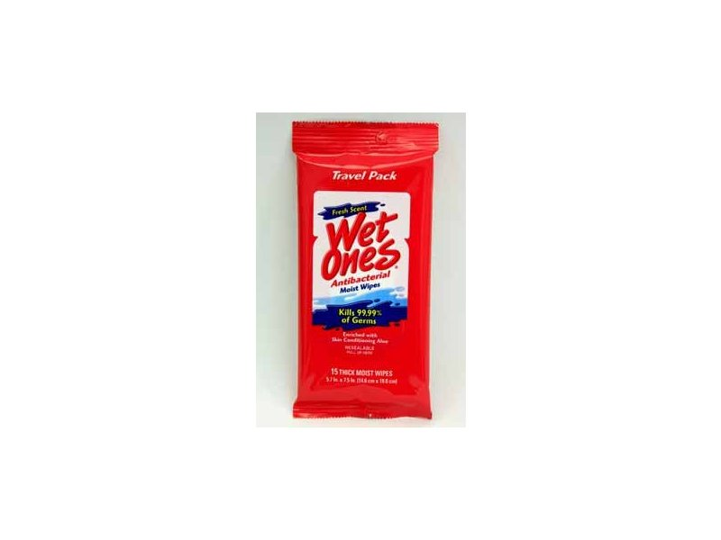 Wet Ones Antibacterial Hand Wipes - Fresh Scent: Travel Pack