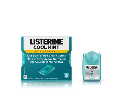 Listerine Pocketpaks Oral Care Strips, Cool Mint