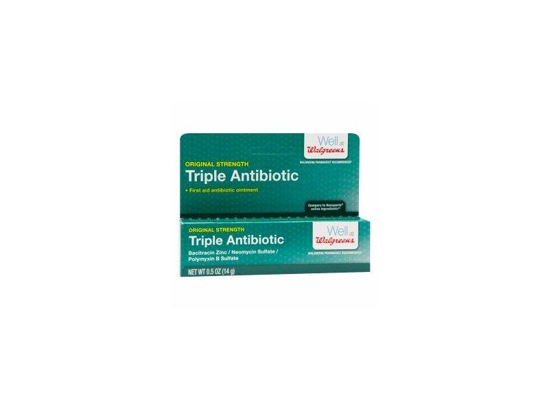 Walgreens Triple Antibiotic Ointment - 0.5 oz tube