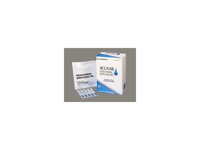 Acuvail 0.45% Ophthalmic Solution (RX) Box of 30 Vials, Allergan