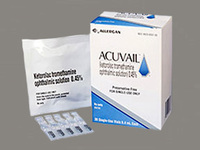 Acuvail 0.45% Ophthalmic Solution (RX) Box of 30 Vials, Allergan - Image 1