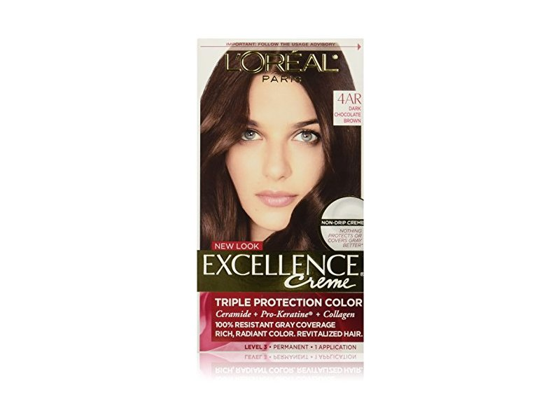 Loreal Excellence Creme Hair Color Dark Chocolate Brown 4ar