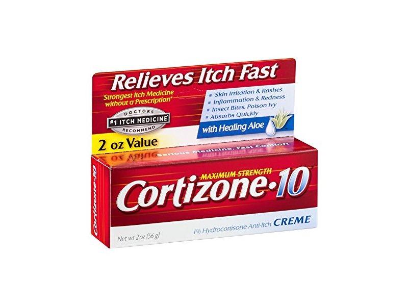 Cortizone-10 Maximum Strength 1% Hydrocortisone Anti-Itch Creme with Aloe, 2 oz.