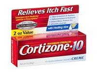 Cortizone-10 Maximum Strength 1% Hydrocortisone Anti-Itch Creme with Aloe, 2 oz. - Image 2