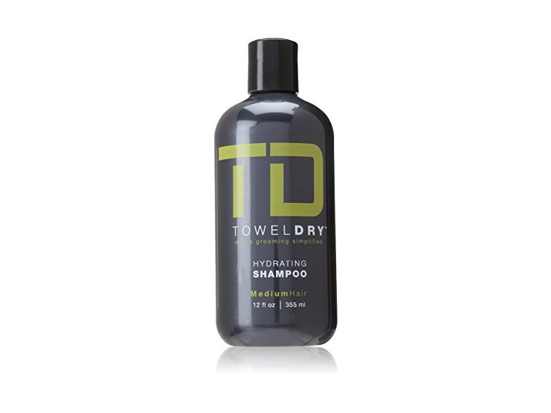Towel Dry Hydrating Shampoo for Men, 12 Ounce