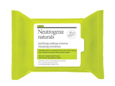 Neutrogena Naturals Purifying Makeup Remover Cleansing Towelettes, 25 Count - Image 1