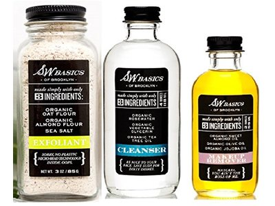 SW Basics Exfoliant, Cleanser, and Makeup Remover 3 Variety Pack (3)