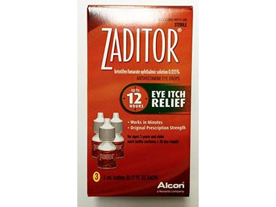 Zaditor Antihistamine Eye Itch Relief Drops