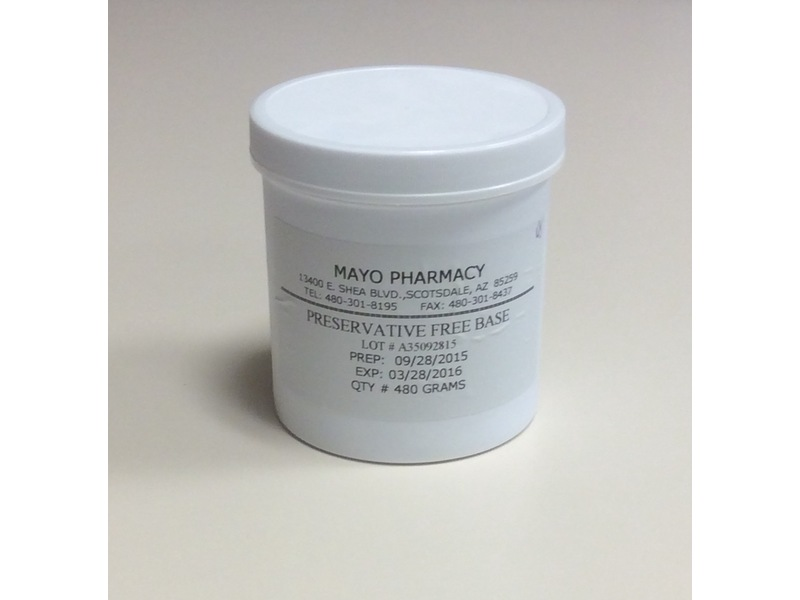 Mayo's Preservative Free Cream Base, Mayo Pharmacy