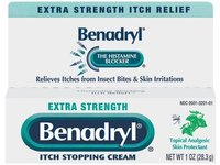 Benadryl Extra Strength Itch Stopping Cream, 1 oz - Image 2