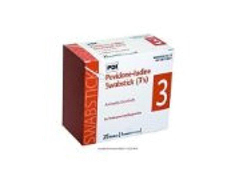 PDI Povidone-Iodine Swabstick 3's S41125 Antiseptic