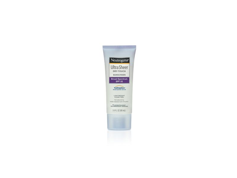 Neutrogena Ultra Sheer Dry-touch Sunscreen Broad Spectrum SPF-55, Johnson & Johnson