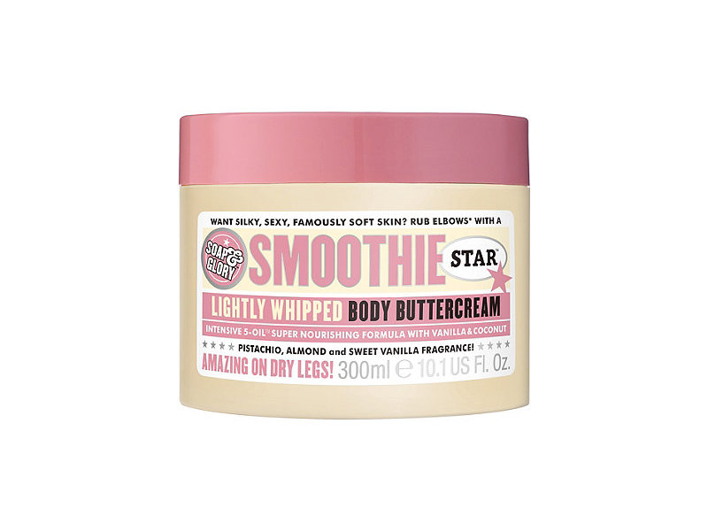 Soap & Glory Smoothie Star Lightly Whipped Body Buttercream, Pistachio, Almond and Sweet Vanilla Fragrance