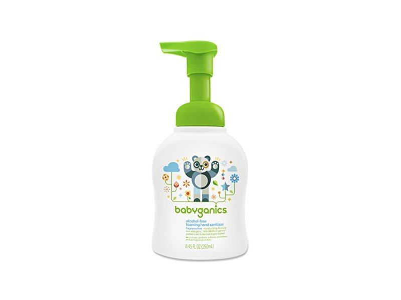 Babyganics Alcohol-Free Foaming Hand Sanitizer, Fragrance Free, 8.45oz Pump Bottle